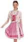Mobile Preview: Krüger Madl Dirndl Honey Rose und Lachs 60cm Rocklänge